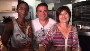 Patricia Mona, déléguée Martinique, Antonio Fernandes, délégué grand-Est, et Nadège Durand-Pellegatta, déléguée adj. Martinique