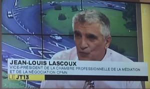 Jean-Louis Lascoux sur Guadeloupe première, au JT de Pierre Francillonne , animé par Eric Rayapin